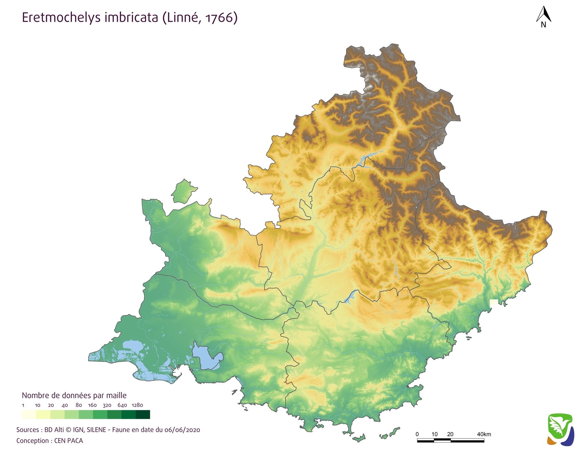 Carte de densité par mailles 5km