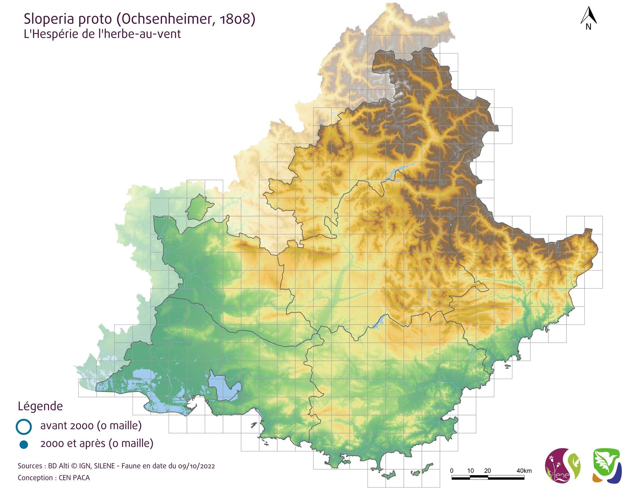Carte de répartition par mailles