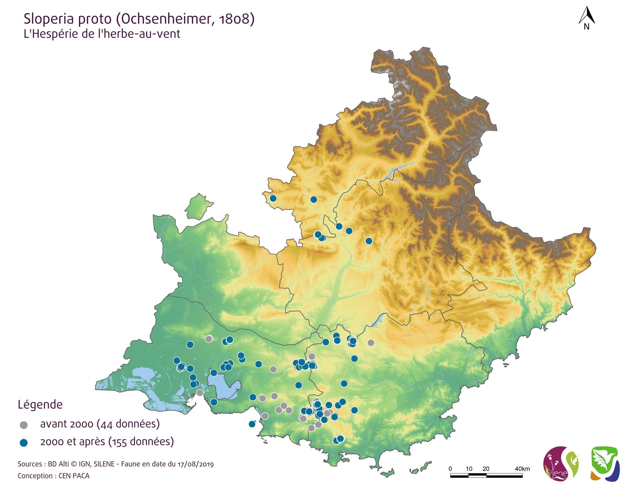 Carte de répartition (points)